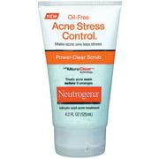Neutrogena Power-Clear Scrub, Oil-Free Acne Stress Control, 4.2 oz