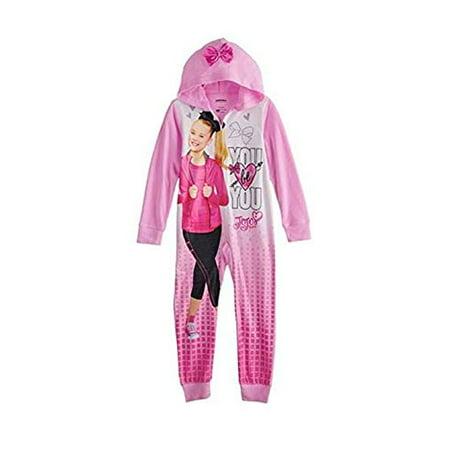 f489383ec I WEAR JOJO - Girls JoJo Siwa Union Hooded One Piece Pajama Suit ...