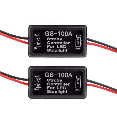 2pcs Flash Strobe Controller Flasher Module for LED Brake Light Tail Stop Light (Strobe Light Machine)