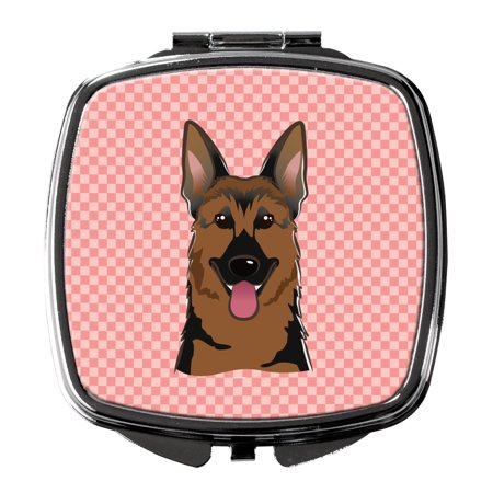 Checkerboard Pink German Shepherd Compact Mirror BB1211SCM