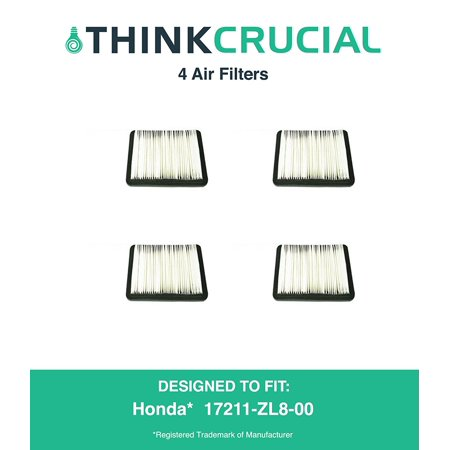 4 Premium Air Filter Fits Honda Part   17211 Zl8 023  17211 Zl8 000  17211 Zl8 003  Stens   102 713    Napa   7 08383  By By Think Crucial