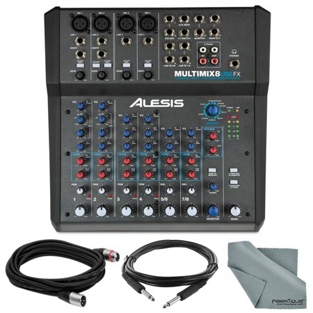 alesis multimix 8 usb fx 8 channel mixer with effects usb audio interface basic bundle w. Black Bedroom Furniture Sets. Home Design Ideas