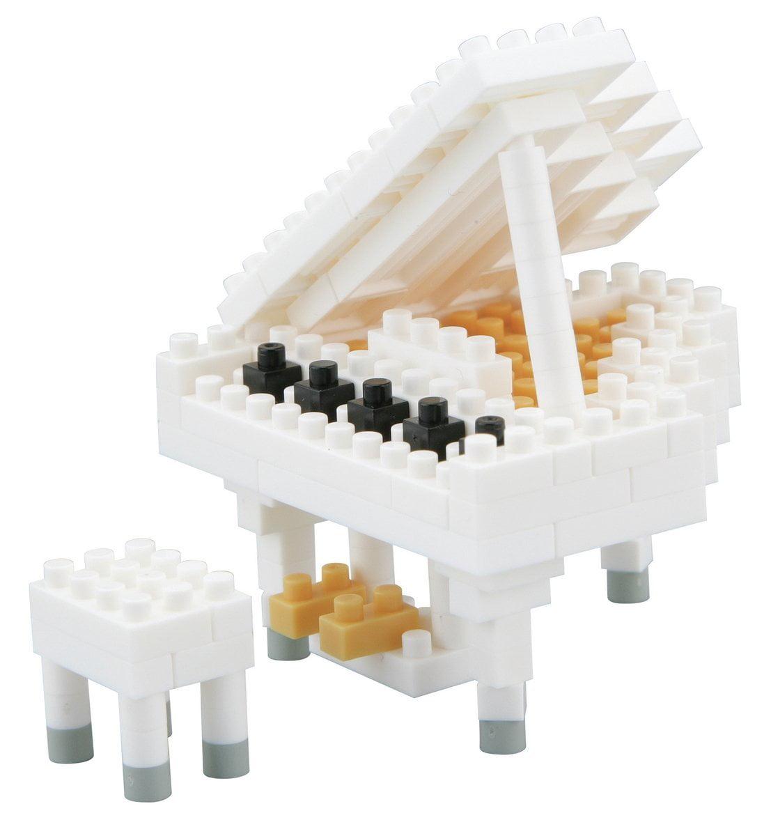 Nanoblock NBC-053 White Grand Piano, By Kawada by