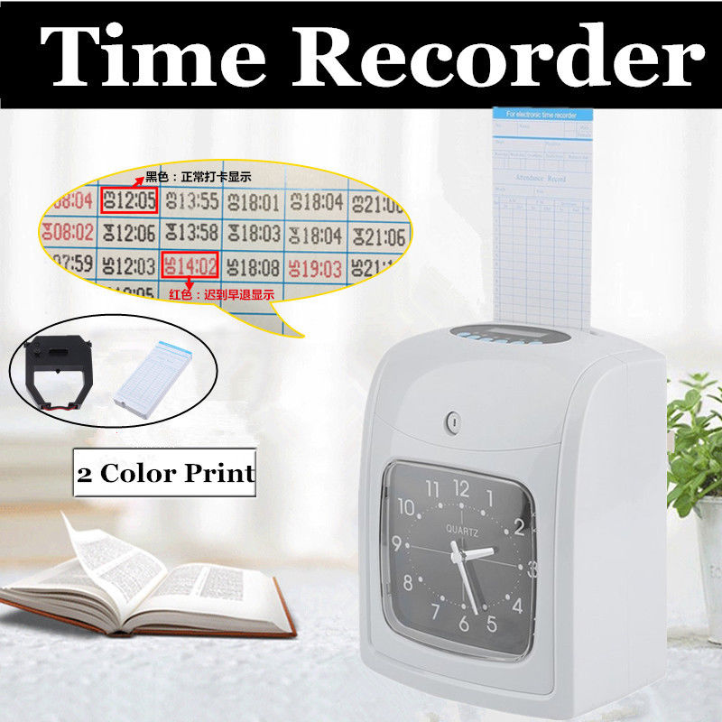 Small Business Time Clock Machine Work Hours Payroll Recorder Punch-in Card US