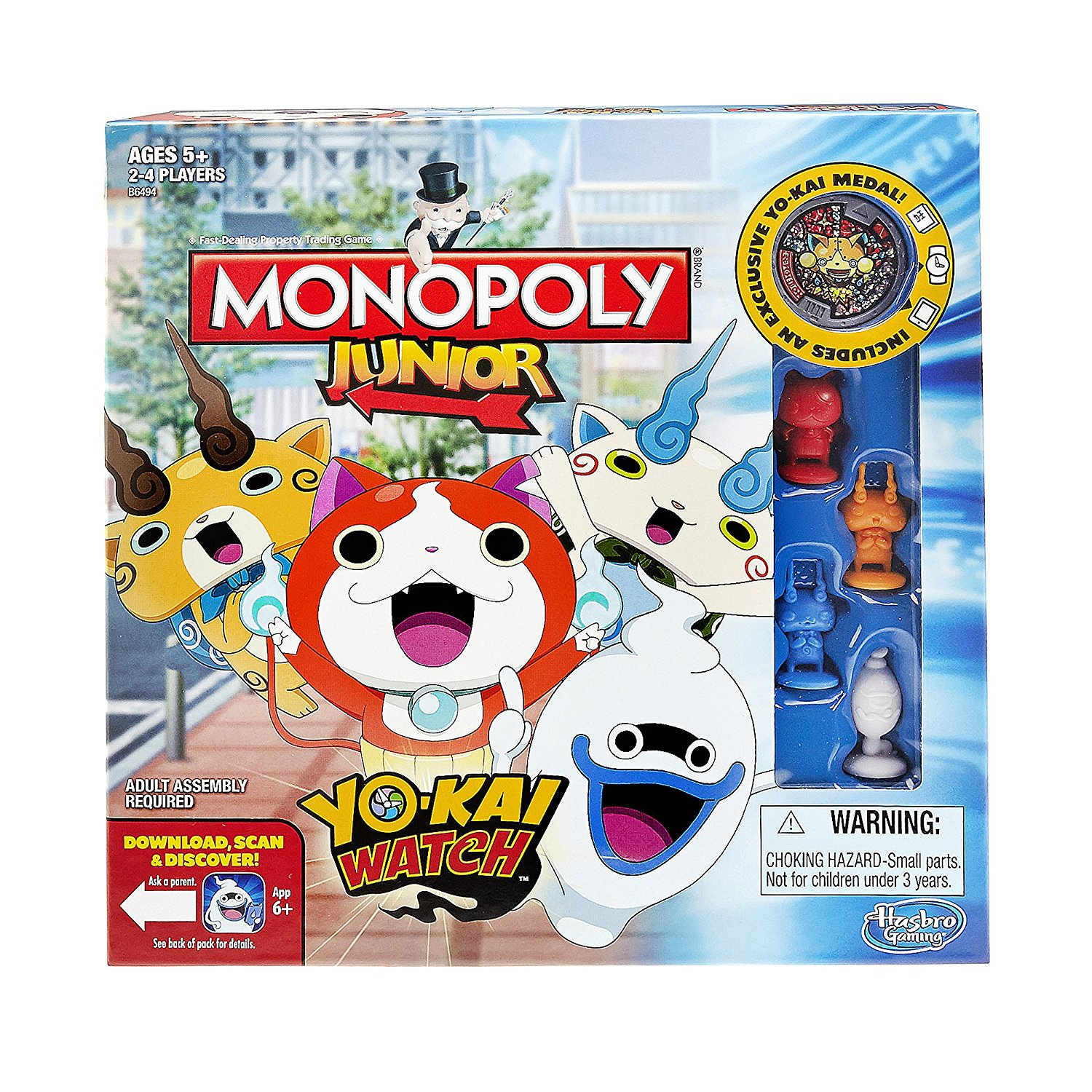 B6494 Monopoly Junior: Yo-kai Watch Edition..., By Hasbro Ship from US by