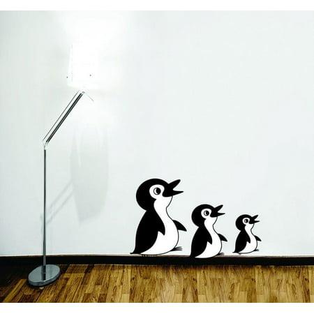 Custom Wall Decal 3 Penguins Cartoon Kids Daycare PreSchool Wall Stic