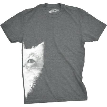 - Mens Peek a Boo Kitty Funny Cat Face Crazy Cat Lover Adorable Kitten T shirt