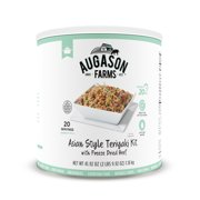 Augason Farms Asian Style Teriyaki with 100% Real Freeze-Dried Beef Emergency Food Supply Large Can