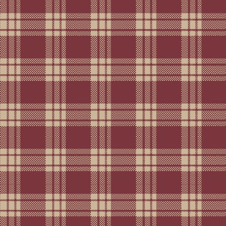 "Waverly Inspirations Homespun 100% Cotton 44"" Plaid Red Fabric, per Yard"