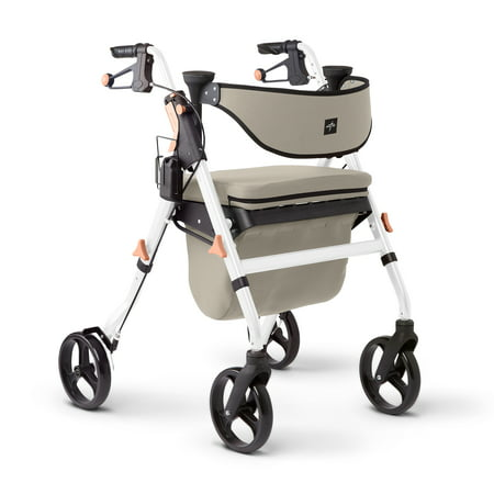 Medline Empower Multipurpose Deluxe Rollator Walker with Microband Antimicrobial treatment