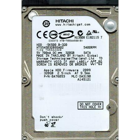 - Hitachi HTS545032B9SA02 P/N: 0A76053 MLC: DA3190 320GB