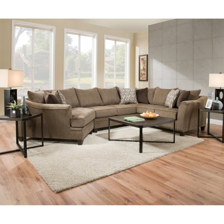 United Furniture 3 Piece Mixed Media Square Table Coffee Table Set 3 Piece Set Footboard