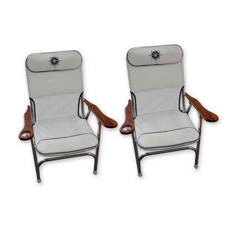 Premium Aluminum Deck Chairs With Cup Holder Aluminum