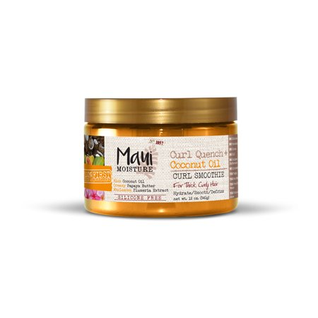 Maui Moisture Curl Quench + Coconut Hair Oil Curl Smoothie, 12 FL