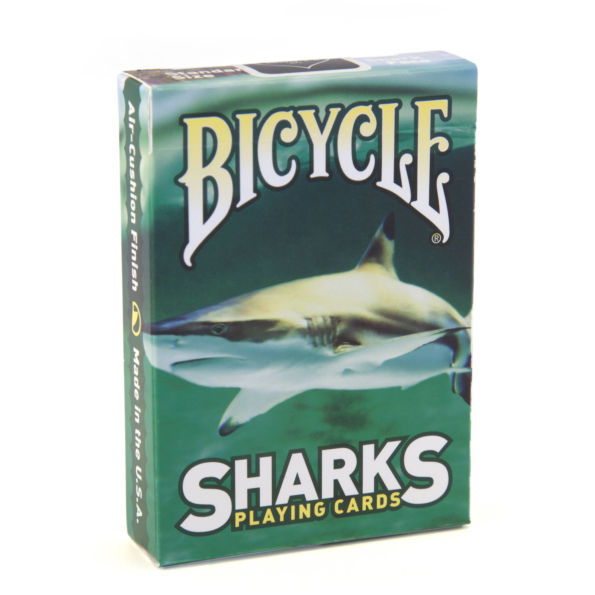 Bicycle Sharks Green Playing Cards