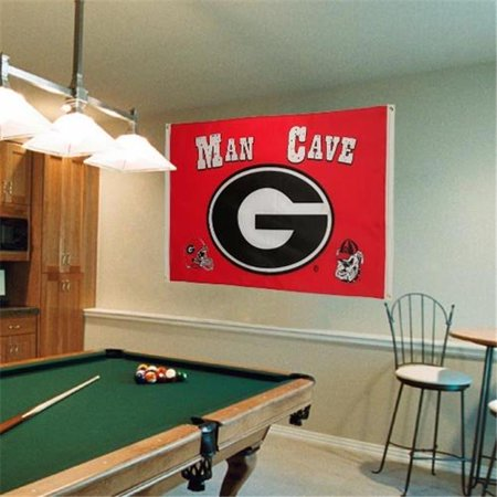 Bsi Products 95907 Man Cave 3 Ft  X 5 Ft  Flag With  4 Grommets   Georgia Bulldogs