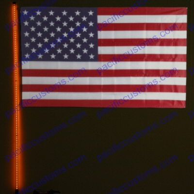 Safeglo Extra Heavy Duty 6 Foot Orange LED Whip Antenna F...