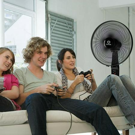 16'' Oscillating Pedestal Fan 2 Mode Adjustable Remote Control 2 Blades - image 8 of 10
