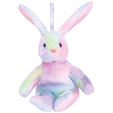 TY Basket Beanie Baby - HIPPIE the Bunny (5.5 inch) - Hippie Babe