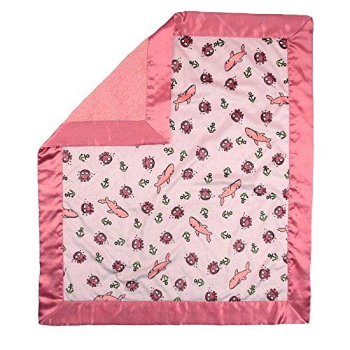 My Blankee Sharkies Minky Pink w/ Minky Dot Watermelon Ba...