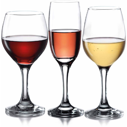 Style Setter Alexander Valley 12-Piece Goblet Party Pack - Clear
