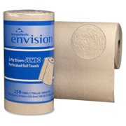 """Envision High-cap. Perforated Paper Towel - 2 Ply - 250 Sheet[s] - 11"""" X 8.80"""" - Brown - 12 Roll (gpc-28290)"""