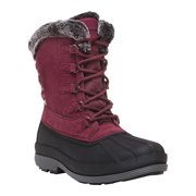 Propet Lumi Tall Lace Duck Boot(Women's) -Brown Suede New Arrival For Sale T9wYQZgQLW