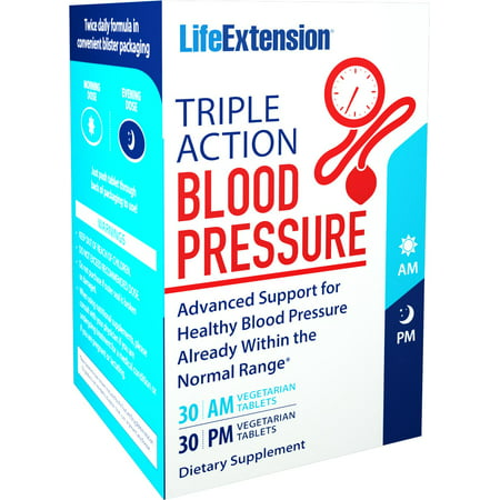 Am Pm Menopause Formula (Life Extension Triple Action Blood Pressure AM / PM - 60 VTablets )