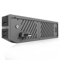 Xbox One HDD Adapter, External Hard Drive Enclosure Case with 3 Front USB 3.0 Ports with SATA Hard Drive Expansion Adapter Connector Media Hub Attachment Accessory