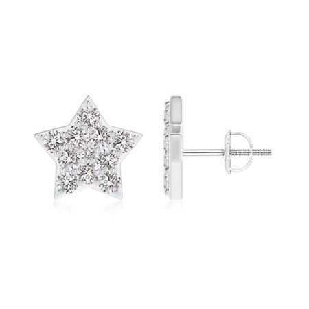 April Birthstone Diamond Star Shaped Stud Earrings In 14k White Gold 2 3mm Se113 Wg Iji1i2 3