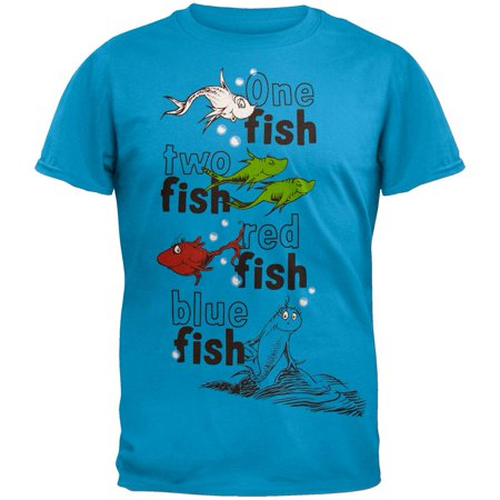 Dr seuss fish book page t shirt for Walmart fishing shirts