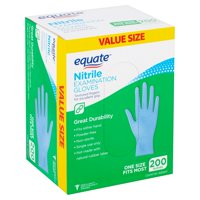 Equate Nitrile Examination Gloves Value Size, 200 count