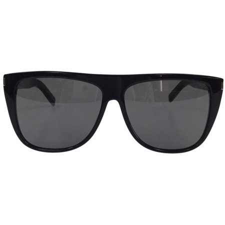 Saint Laurent SL 1 001 Black Grey Plastic Sunglasses 59mm ()