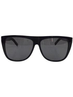 89b751828f7 Product Image Saint Laurent SL 1 001 Black Grey Plastic Sunglasses 59mm