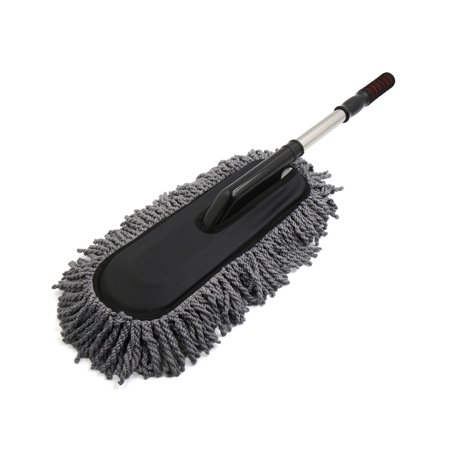 gray microfiber telescoping flat brush duster wax mop car cleaning washing tools. Black Bedroom Furniture Sets. Home Design Ideas
