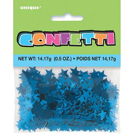 Foil Star Confetti, Blue, 0.5 oz