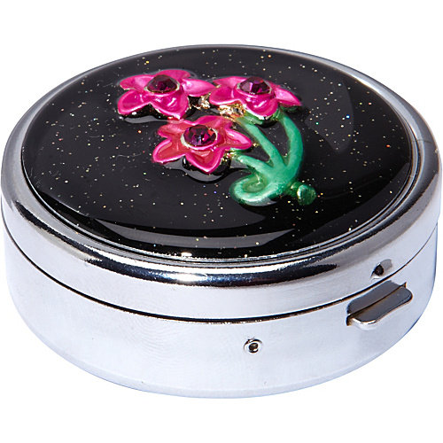 Budd Leather Secret Garden Round Pill Box