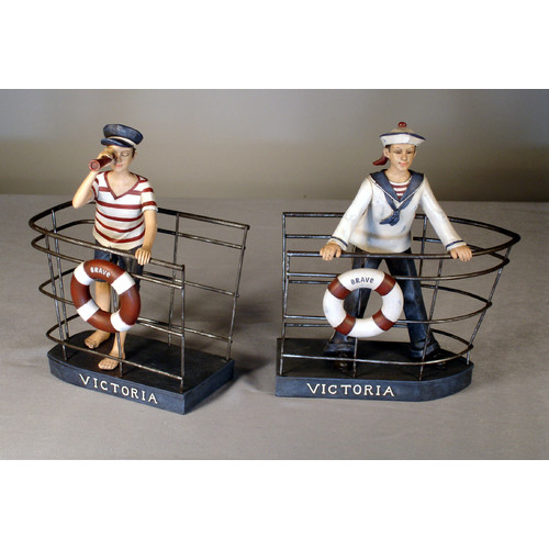 Judith Edwards Designs Sailor Book Ends