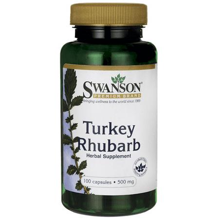 Swanson Turkey Rhubarb Root Capsules, 500 mg, 100 Ct