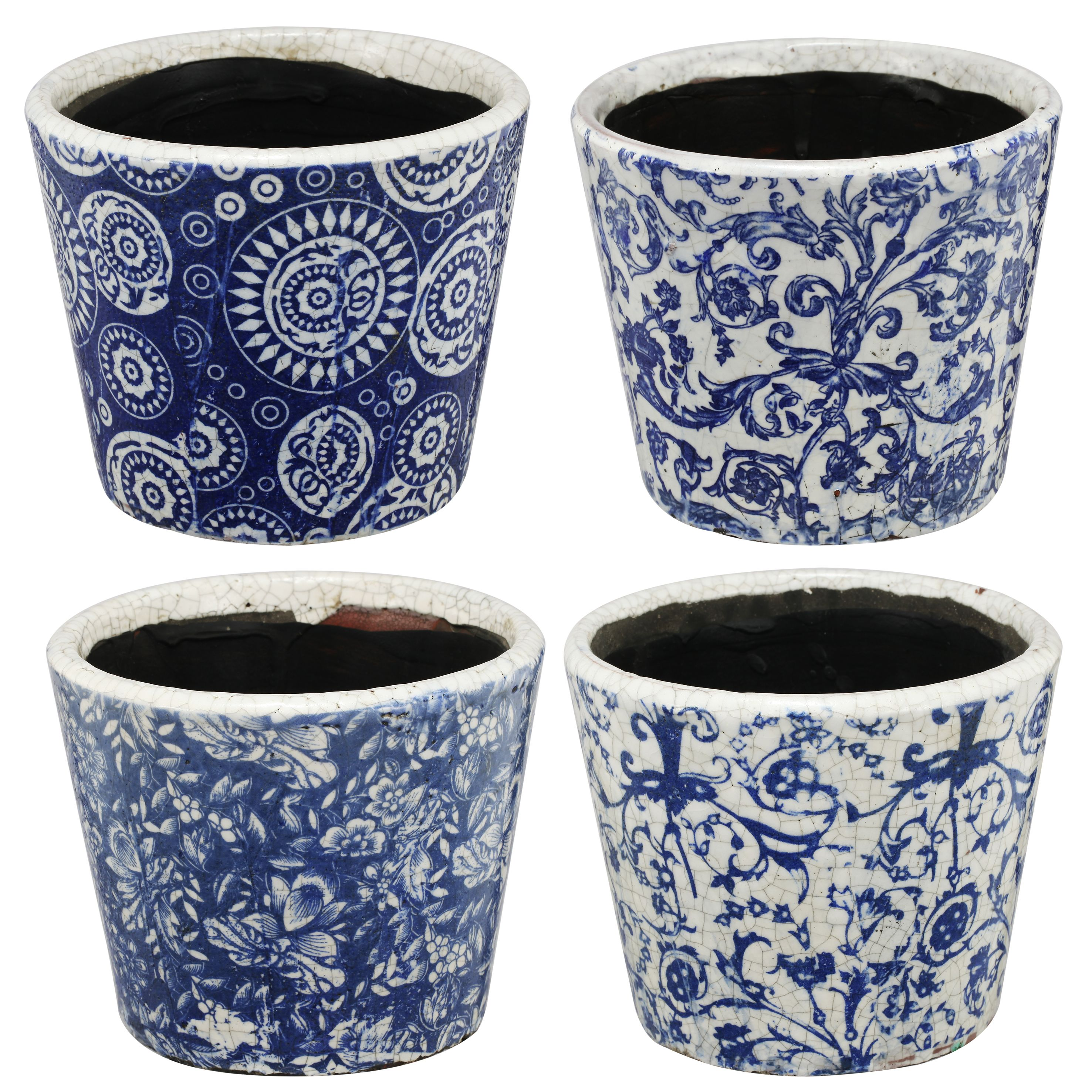 A&B Home Anthony Venetucci Set of 4 Small Planters by A&B Home