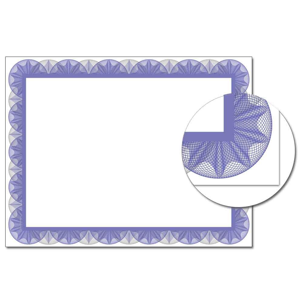 Blue Spiral Laser & Inkjet Certificate Border Paper