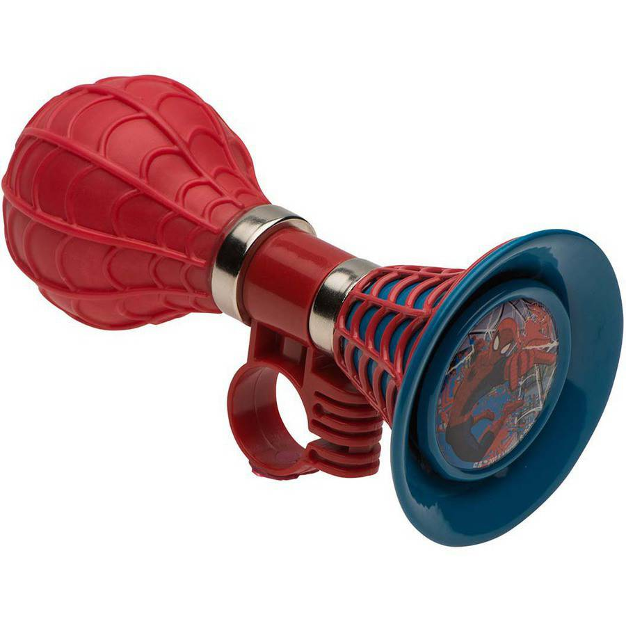 Bell Sports Spider-Man 3D Webbed Horn, Red and Blue