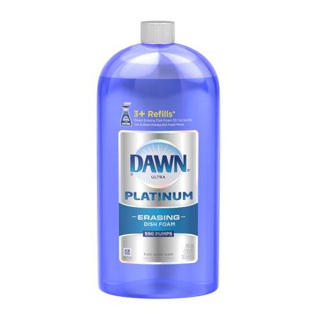 Dawn Platinum Erasing Dishwashing Foam Refill  Fresh Rapids  30 9 Fl Oz