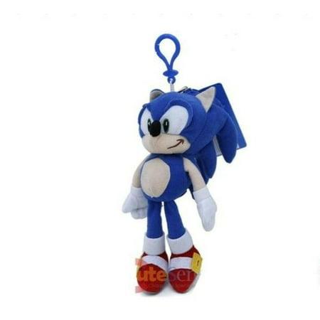Sonic The Hedgehog Plush Doll Key Chain Coin Bag Clip On 8