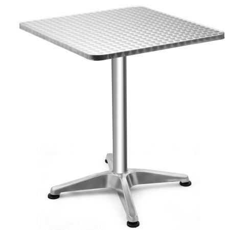 Topbuy Aluminum Bar Tables Square Silver Top Folding Table 2  Height Position ()