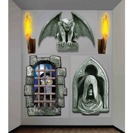 4' x 5.3' Halloween Creepy Wall Decor for $<!---->