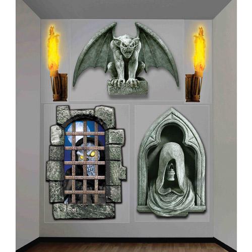 4' x 5.3' Halloween Creepy Wall Decor