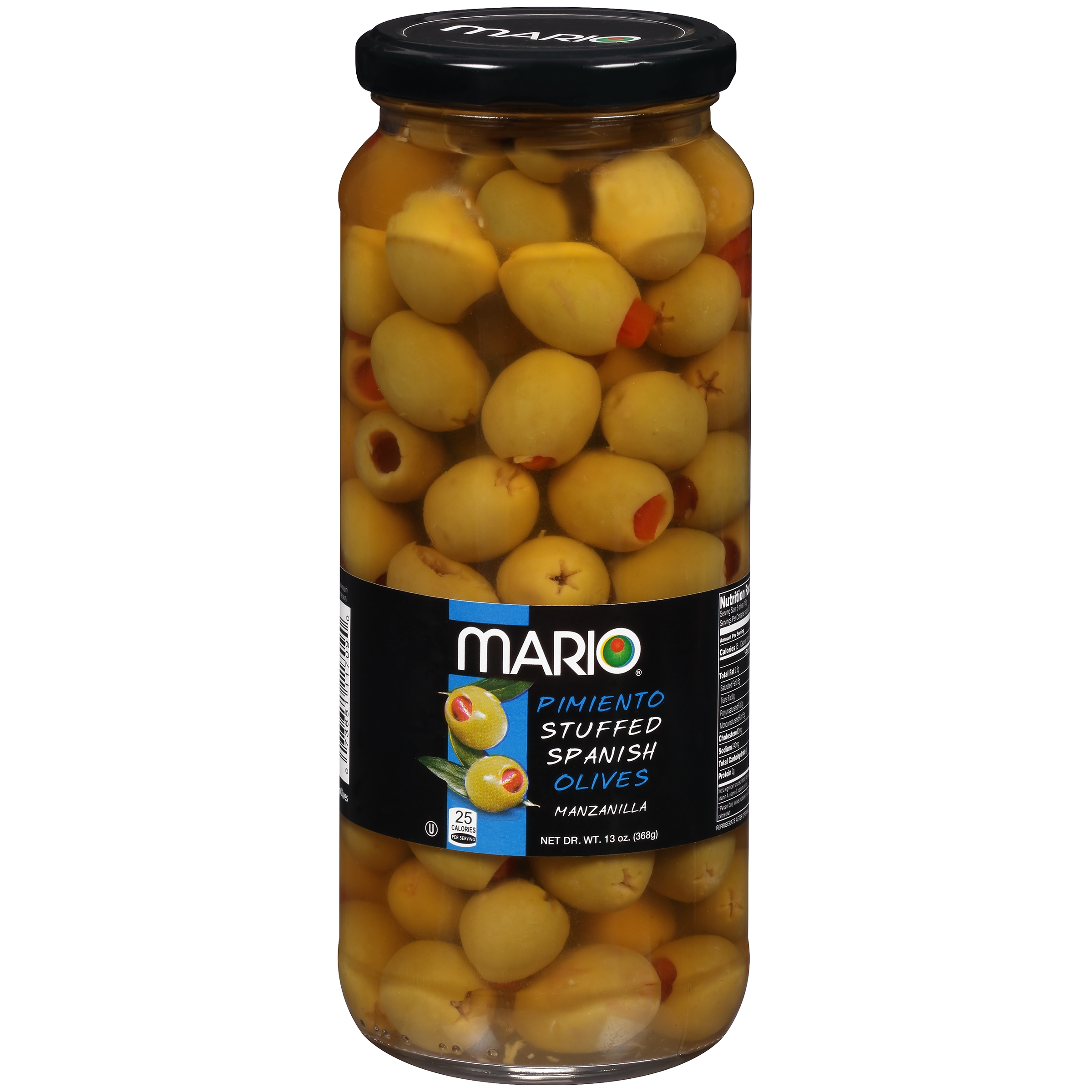 Mario® Pimiento Stuffed Spanish Manzanilla Olives 13 oz. Jar