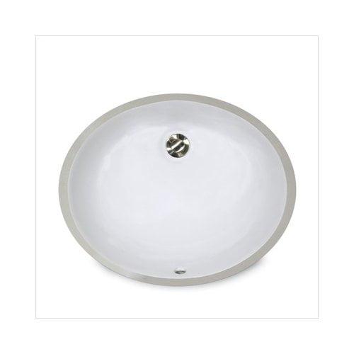 Bundle-27 Nantucket Sinks Oval Undercounter Bathroom Sink with Overflow (Set of 2)