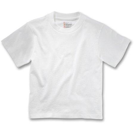 Hanes toddler boy 5 crew tees 5 pack Boy white t shirt